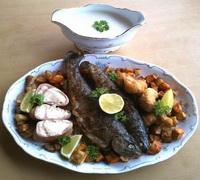 Kapribogyós sült hal