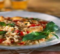 Csirkés-zöldséges rizottó