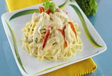 Rukkolás spagetti csilivel recept