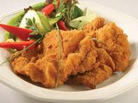 Sajtos-petrezselymes bundás csirkemell