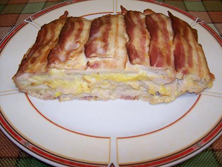 Baconos pulykatorta
