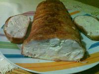 Csirkemell baconbe tekerve őzgerinc formában