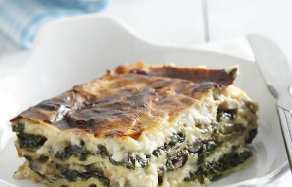 spenotos gombas lasagne