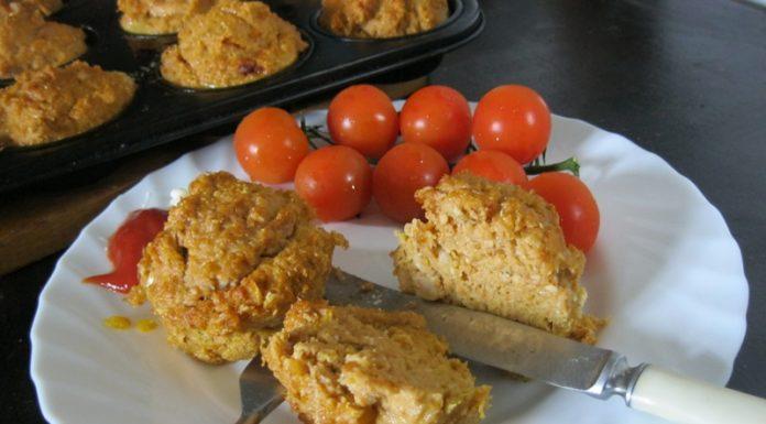 Halas zöldséges muffin