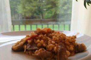 Májas gersli rizses hús mintájára recept