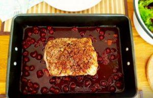 Sült karaj francia cseresznyemártással recept