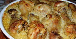 Csirke sütőben készítve